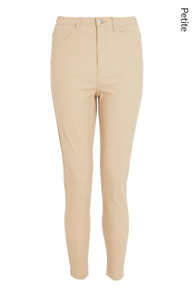 Petite Stone Faux Leather Skinny Trousers